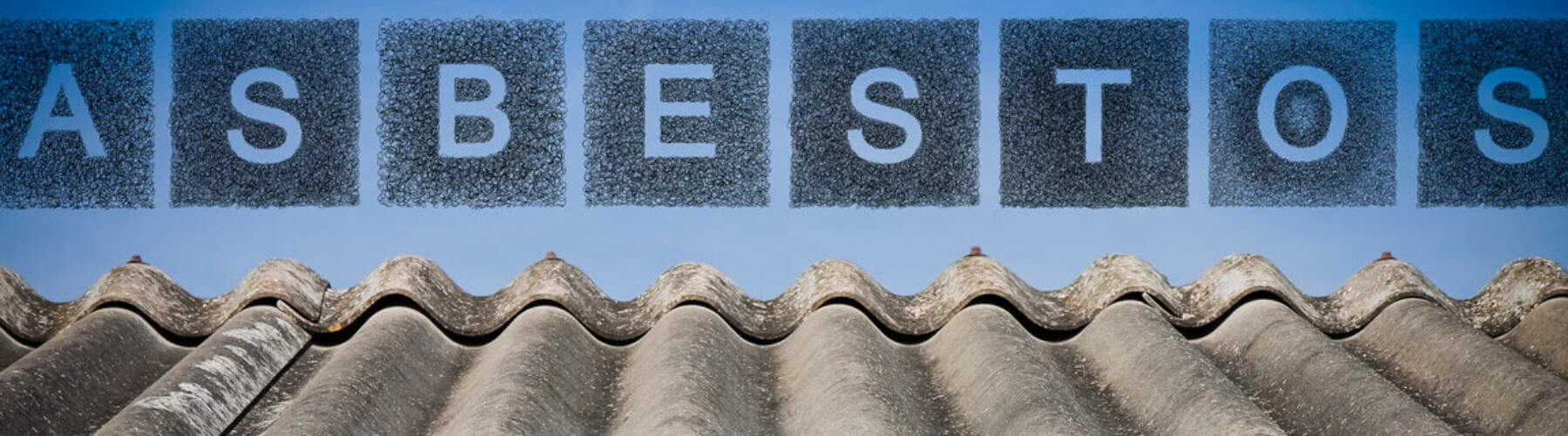 asbestos concept, roofing